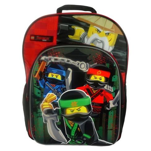 "Lego Ninjago 16"" Kids' Backpack - Black/Red - image 1 of 4"