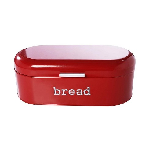 Juvale Bread Boxes For Kitchens Countertop Stainless Steel Bread Bin Dry Food Storage Containers Red 17 3 X 8 3 X 6 5 Inches Target