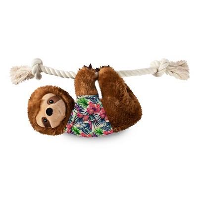 PetShop by Fringe Studio Hangin Around for Summer Sloth Living Dog Toy - L