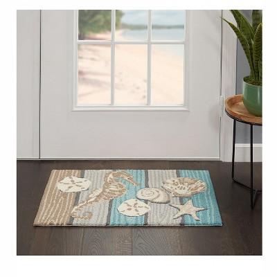 "Nourison Home Trends 3584D Seahorse Indoor Mat - Multicolor 1'6""X2'6"" : Target"