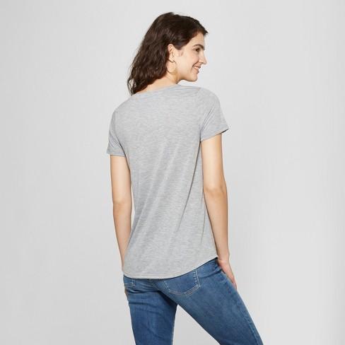 909ec636 Women's Short Sleeve Miami Photo Print Graphic T-Shirt - Awake Heather Gray  XXL : Target