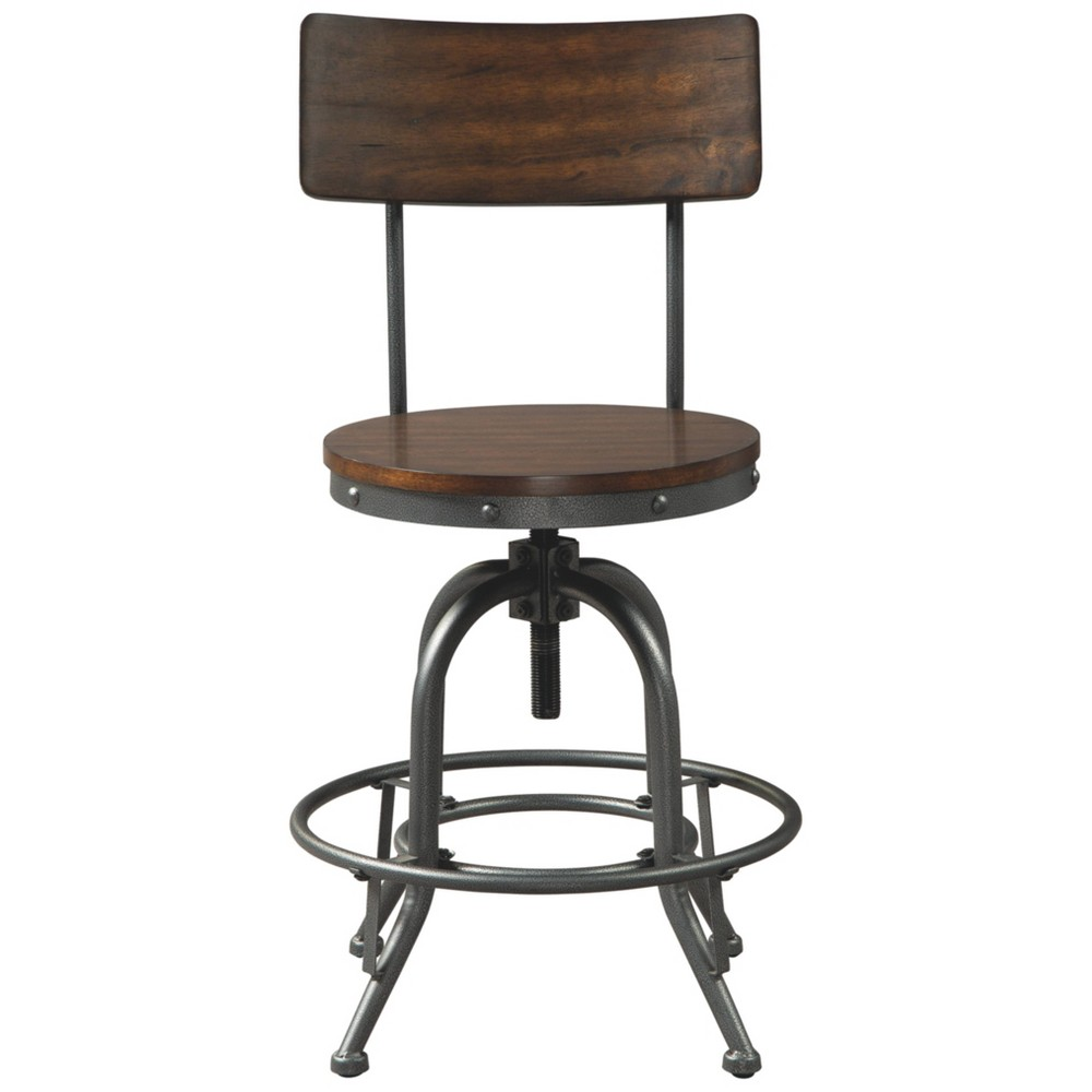 Set Of 2 Odium Counter Height Barstools Brown Signature Design By Ashley
