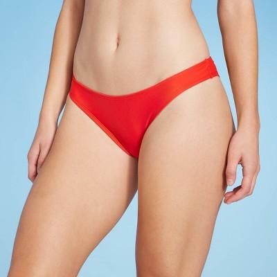 Women's Cheeky Bikini Bottom - Shade & Shore™ Red