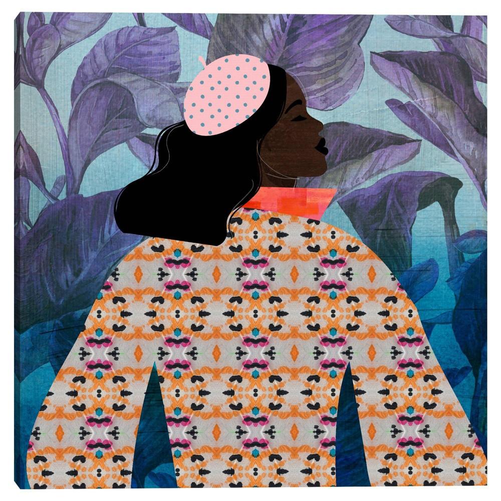 30 34 X 30 34 Girlie Purple Palm By Nikki Chu Canvas Art Print Masterpiece Art Gallery