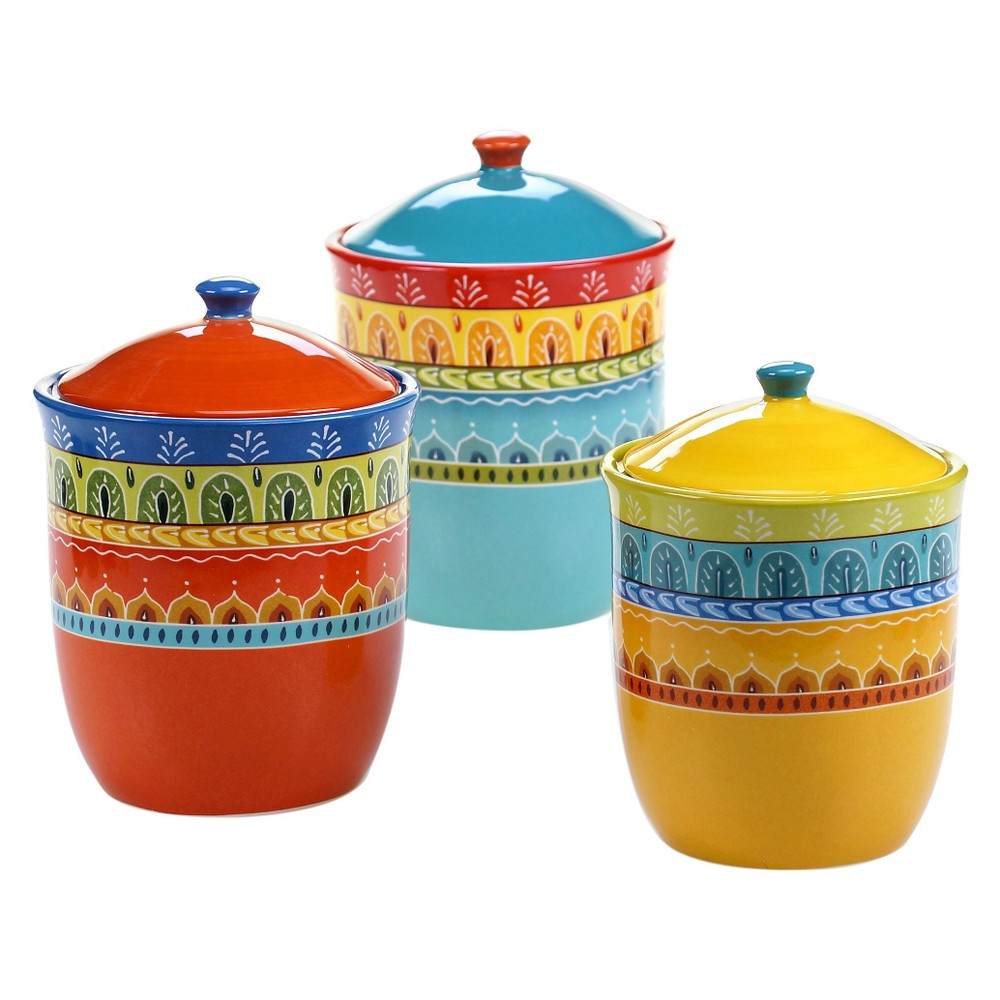Certified International Valencia Canister Set 3 pc. 54, 72, 104 oz.