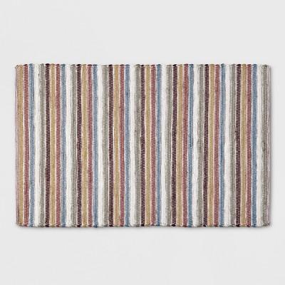 2'6 X4' Woven Washable Accent Rug Stripe - Threshold™