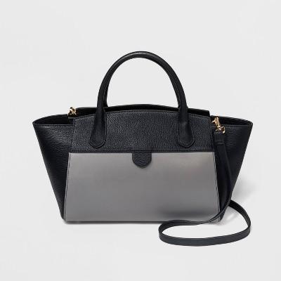 Winged Satchel Handbag - A New Day™ Gray