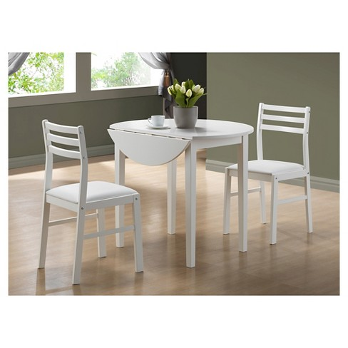 Dining Table And Chairs - White (Set of 3) - EveryRoom - image 1 of 3