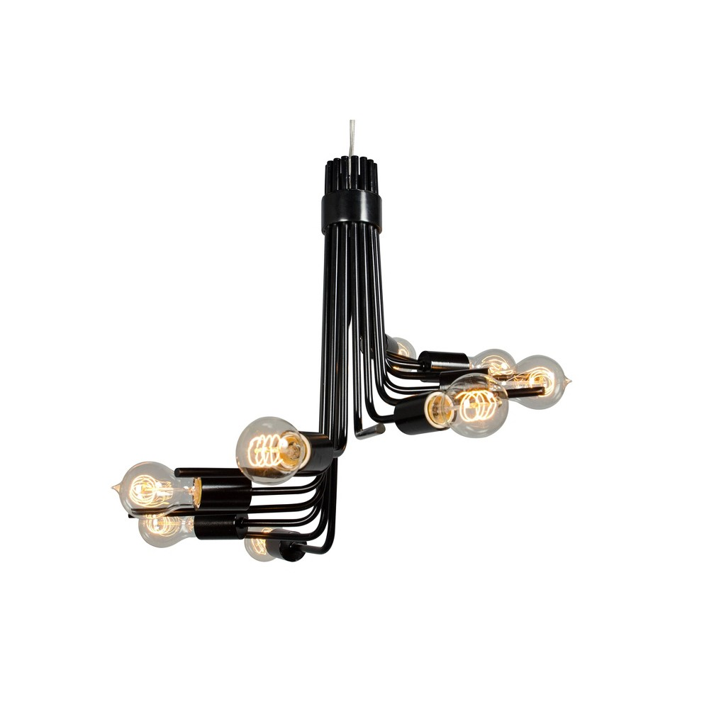 Image of Socket-to-Me 8 Light Chandelier - Black