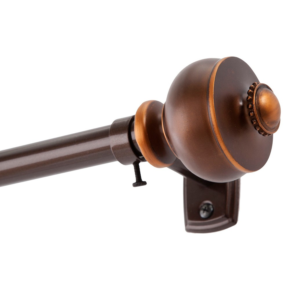 Image of Bentley 3/4Standard Decorative Window Curtain Rod - Kenney, Brown