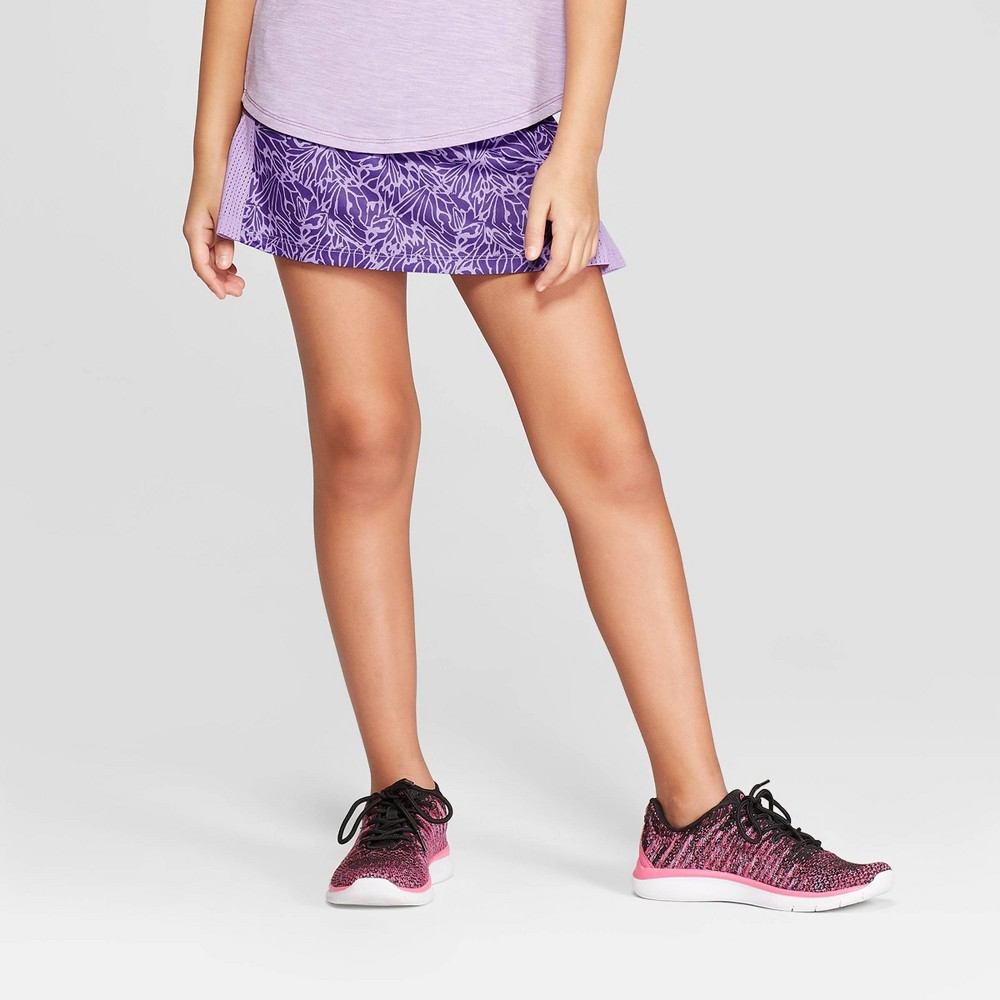 efc630e3f7 Girls Printed Performance Skort C9 Champion Purple XL Size Large