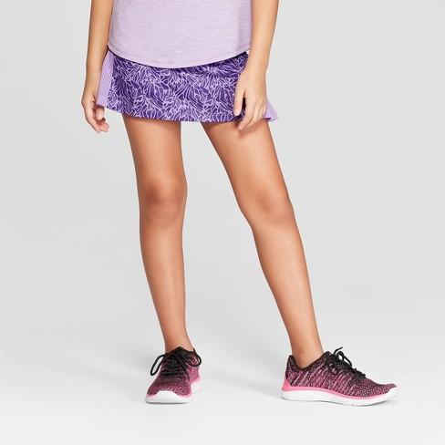 890a02ba4 Girls  Printed Performance Skort - C9 Champion® Purple XL   Target