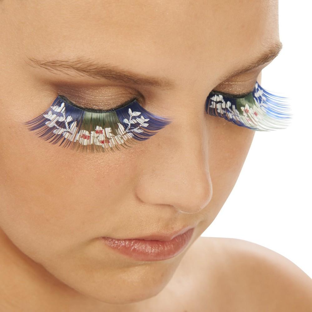 Pretty Flowers Eyelashes, Multi-Colored