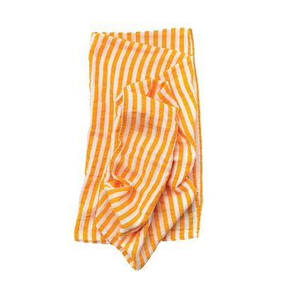 Clementine Kids Citrus Stripe Swaddle Wrap