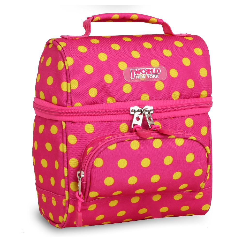 Image of J World Corey Lunch Bag - Pink Buttons