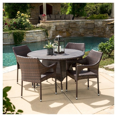 Armstrong 5pc Wicker Patio Dining Set