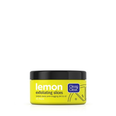 Clean & Clear Lemon Exfoliating Facial Pads With Vitamin C   45ct by 45ct