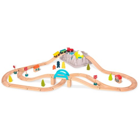 B. toys Wooden Train Set - Wood & Wheels - image 1 of 4