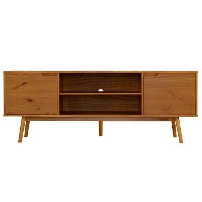 """Diane Solid Wood Mid-Century Modern TV Stand for TVs up to 80"""" - Saracina Home"""