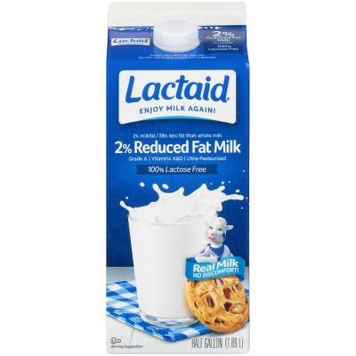 Lactaid Lactose-Free 2% Milk - 0.5gal