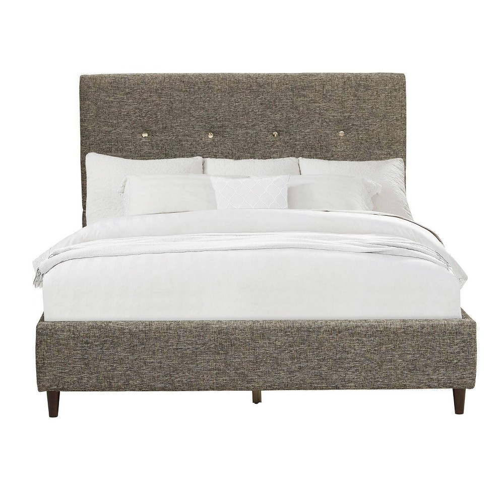 King Mid Century Modern Upholstered Bed Gray - Pulaski