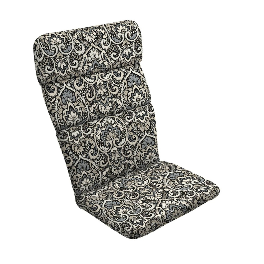 Arden Selections Aurora Damask Texture Outdoor Adirondack Chair Cushion Black