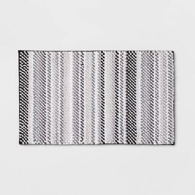"""20""""x34"""" Loop Memory Foam Accent Bath Rug Gray - Room Essentials™"""