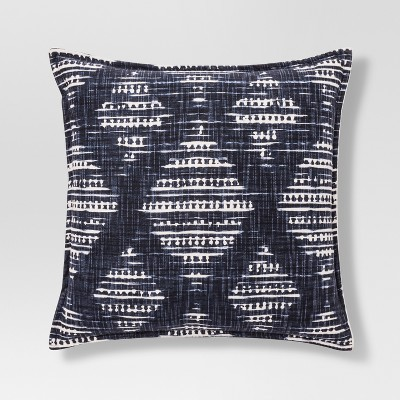 Oversized Shibori Throw Pillow - Blue/White - Threshold™