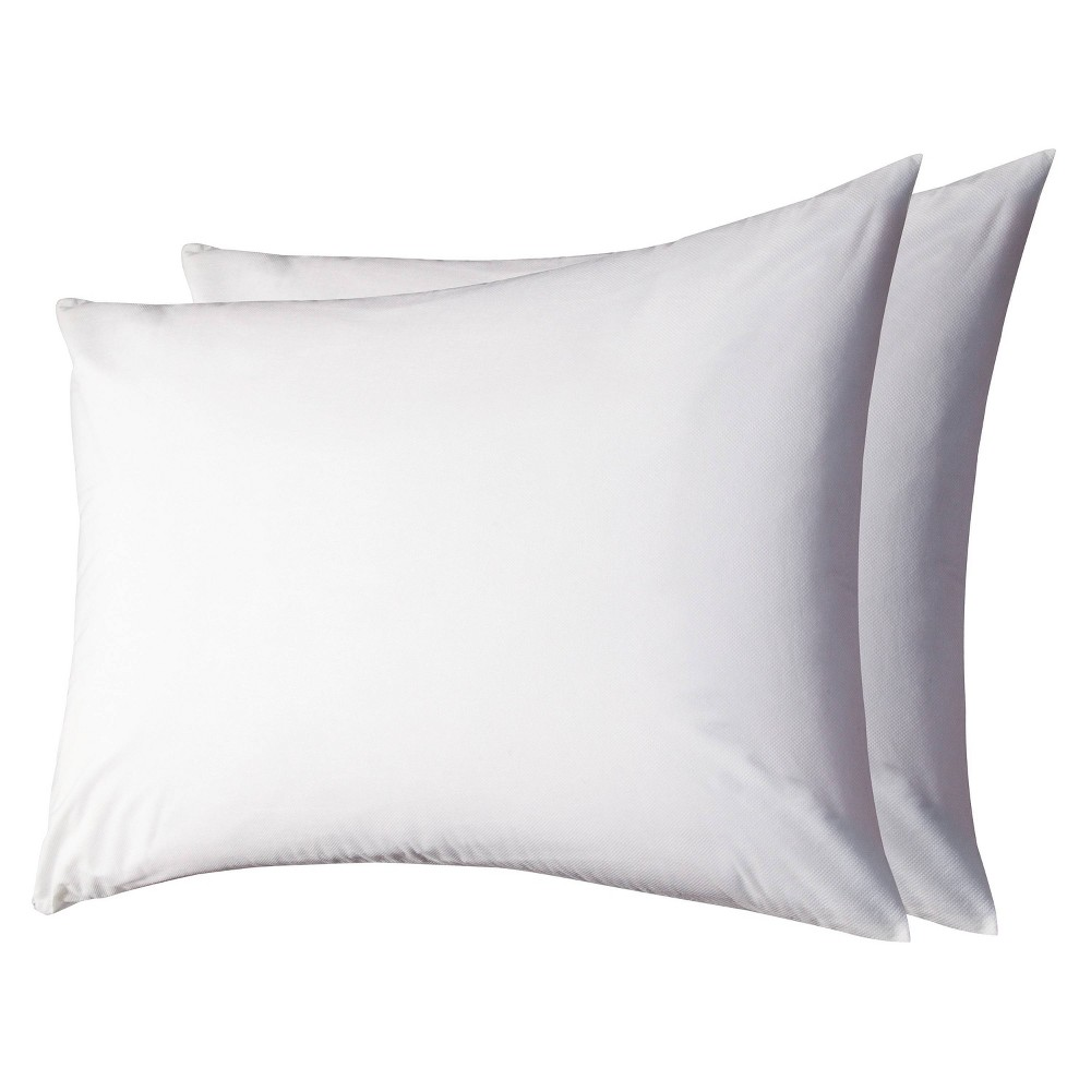 Image of AllerEase 2-Pack Waterproof Pillow Protector - White (Standard/Queen)