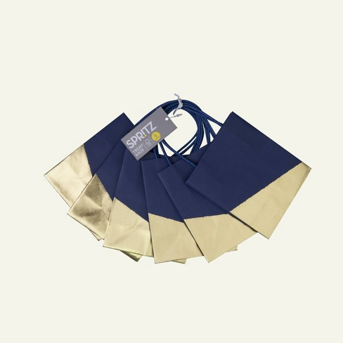 6ct Party Treat Bag Navy/Gold - Spritz™ - image 1 of 1