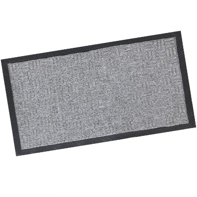 "1'6""x2'6"" Rectangle Outdoor Pressed or Molded Geometric Accent Rug Gray - Sunnydaze Decor"