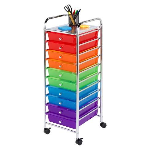 honey can do 10 drawer rolling cart target. Black Bedroom Furniture Sets. Home Design Ideas