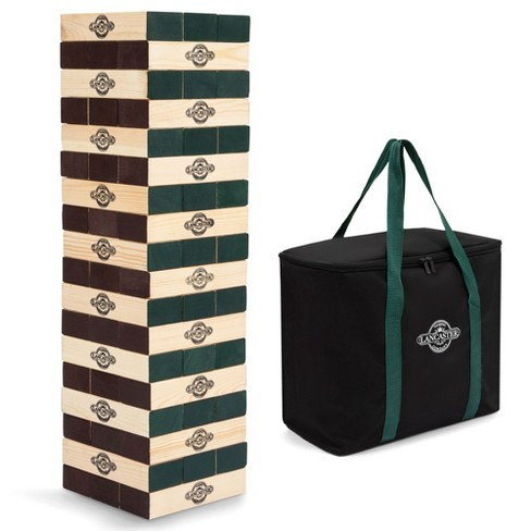 Lancaster Gaming Company Giant Wooden Tumbling Tower Outdoor Game, Black & Pine - image 1 of 4