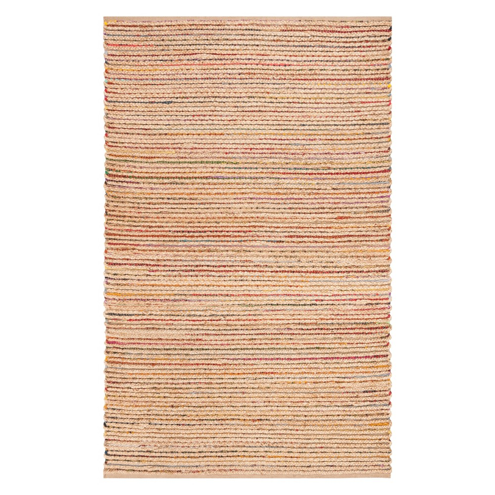 5'X8' Solid Woven Area Rug Natural - Safavieh, Natural/Multi-Colored