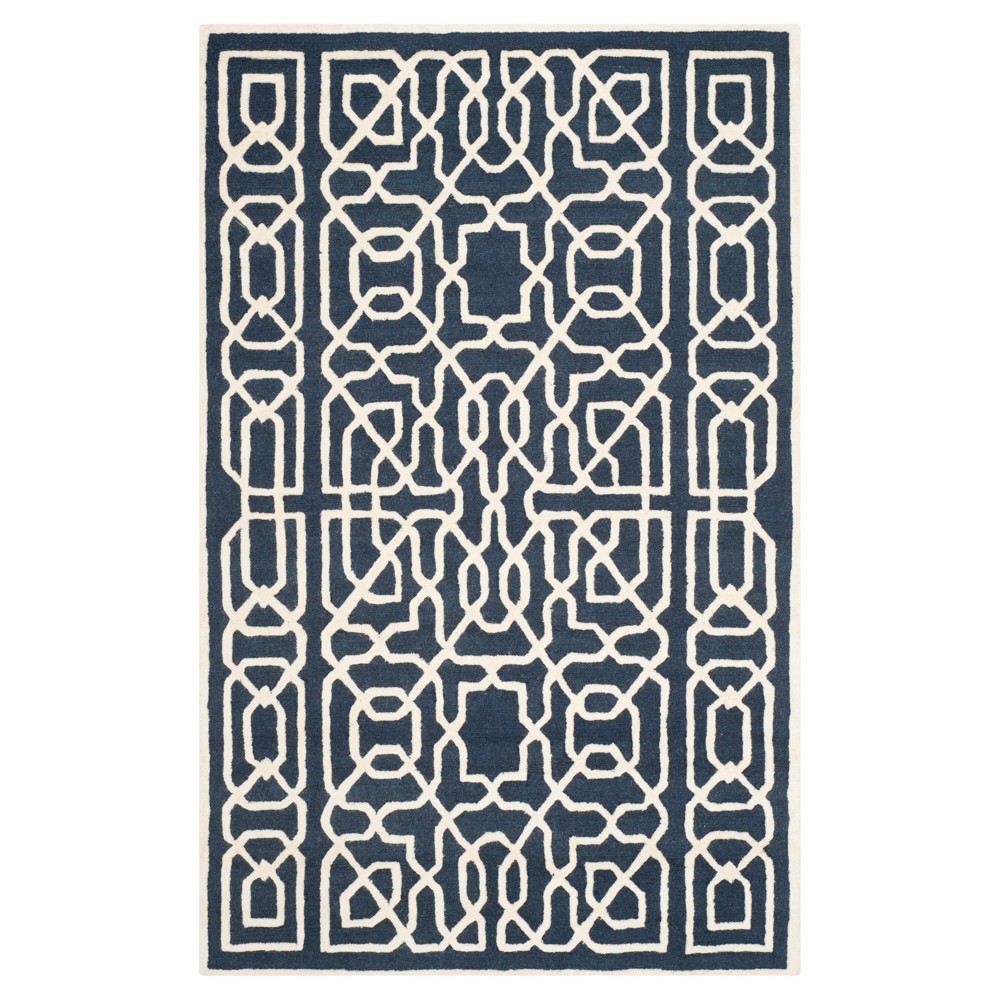 Safavieh Wooster Area Rug - Navy / Ivory ( 6' X 9' ), Blue/Ivory