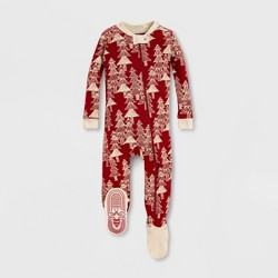 Burt's Bees Baby® Etched Evergreens Tree Organic Cotton Sleeper - Red