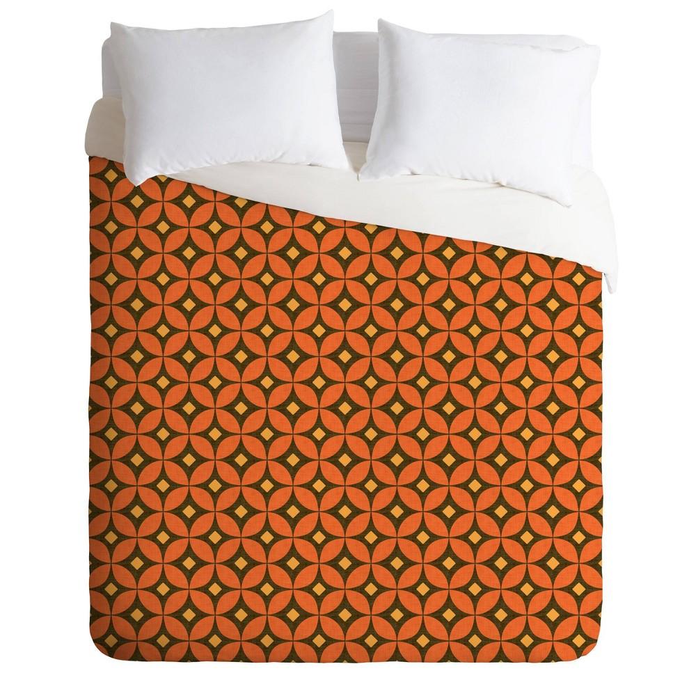 Deny Designs Caroline Okun Twin Twin Extra Long Pumpkin Spice Duvet Cover Set Orange