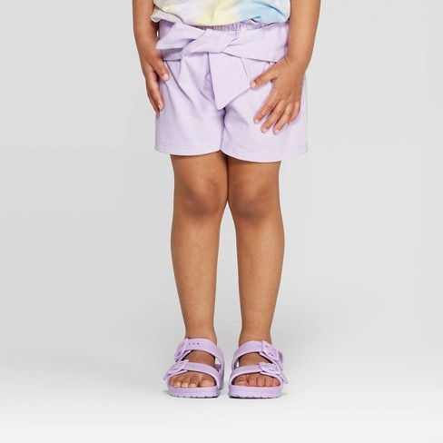 Toddler Girls' Tie Fashion Shorts - art class™ Purple - image 1 of 3