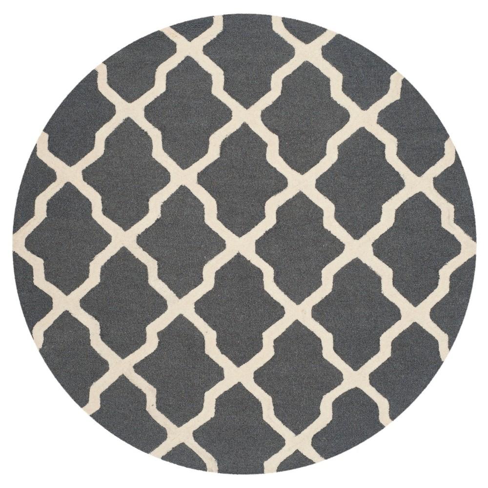 Maison Textured Rug Dark Gray/Ivory 6'x6' - Safavieh