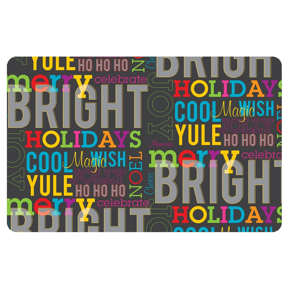 Typography Doormat - (2'X3') - Bungalow Flooring, Multi-Colored