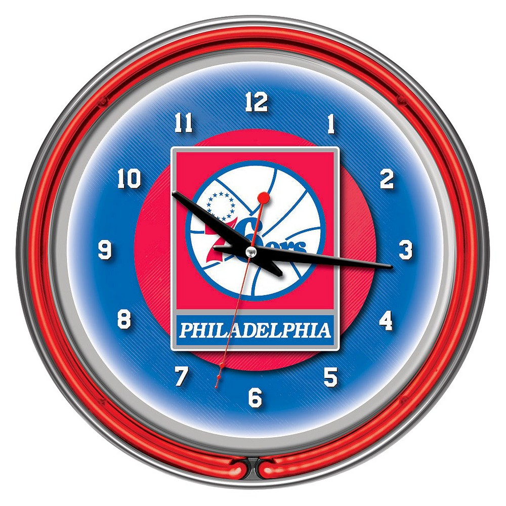 Philadelphia 76ers Team Logo Wall Clock