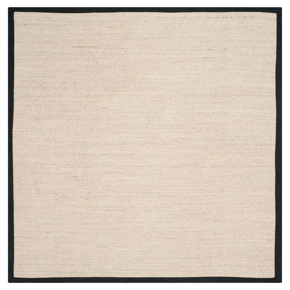 Natural Fiber Rug - Marble/Black - (6'x6' Square) - Safavieh