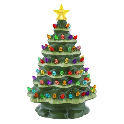 "Mr. Christmas Nostalgic Ceramic Starry Light LED Christmas Tree - 9"""