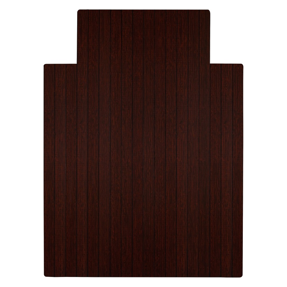 3'X4' Bamboo Roll-Up Chairmat with Lip Brown - Anji Mountain