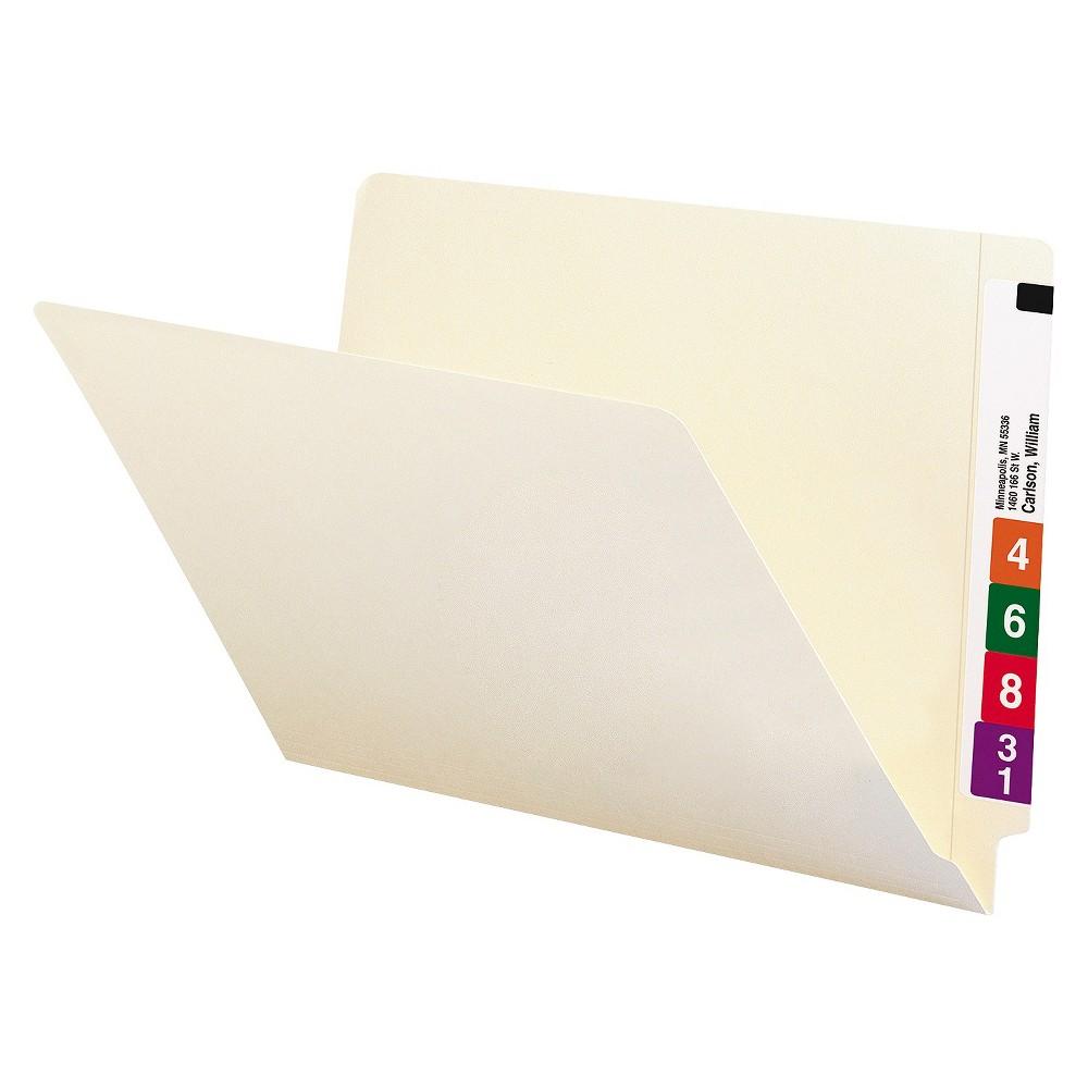 Smead Straight Cut End Tab File Folders, 9 1/2 Inch Front, Legal, Manila, 100/Box, White