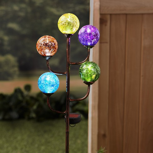 Lakeside Colorful 5 Light Led Solar Stake Decoration Lighted Garden Accent Target