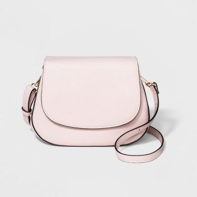 f340bf32b084 Everyday Essentials Saddle Crossbody Bag - A New Day™ Blush Peach   Target