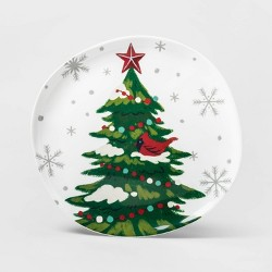 "11"" Melamine Tree Dinner Plate White - Wondershop™"