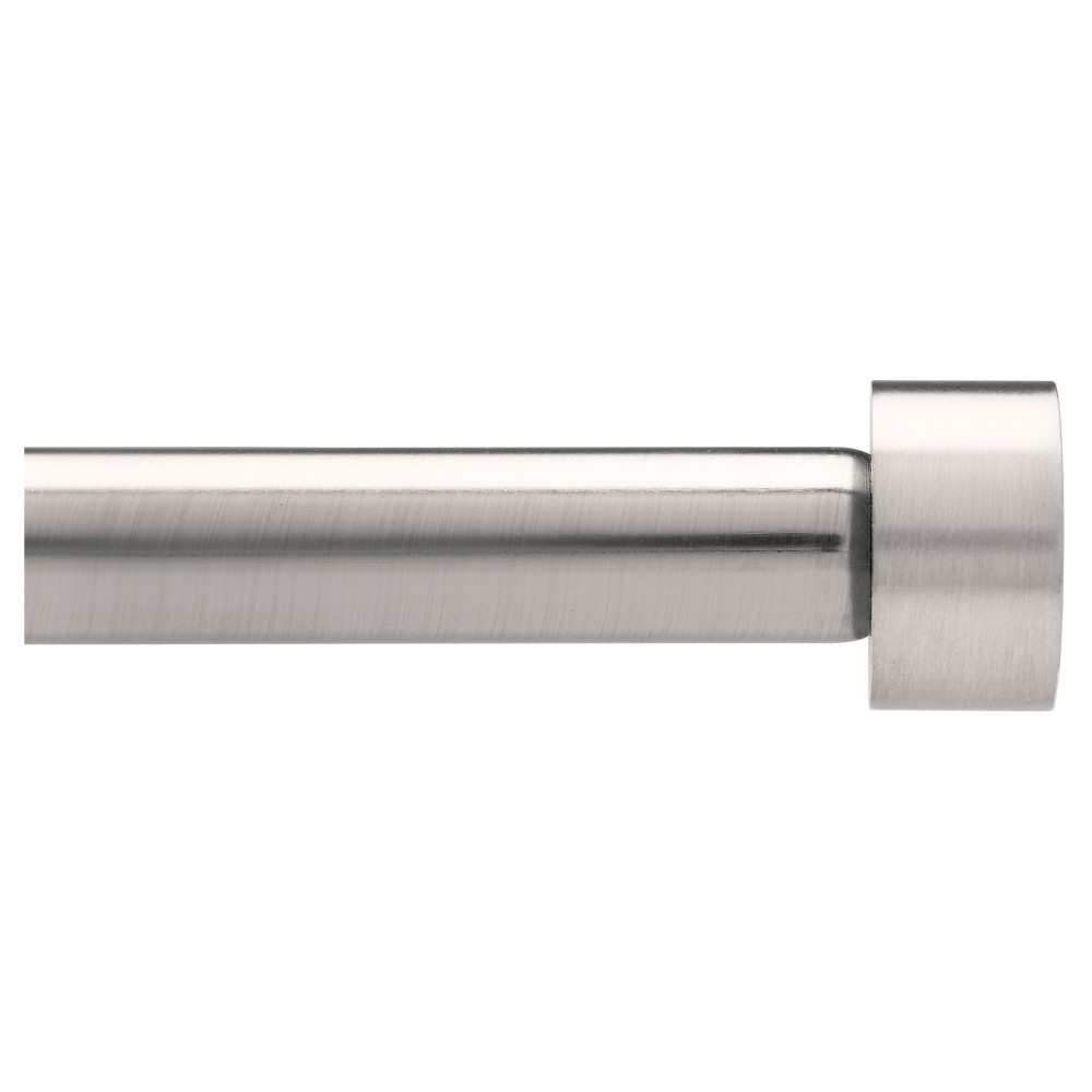 "Image of ""Dauntless Curtain Rod Set Brushed Nickel 1"""" (36""""x66"""")Loft By Umbra, Silver"""