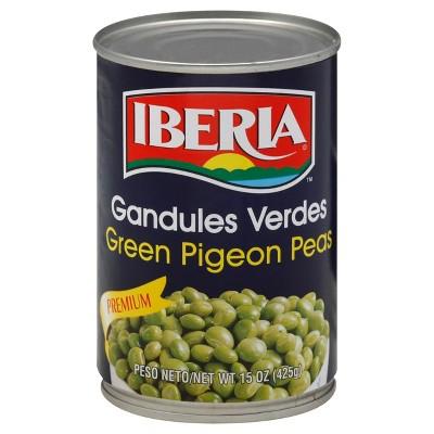 Iberia Green Pigeon Peas - 15oz